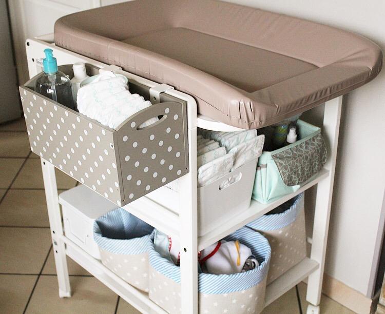 l organisation de ma table langer. Black Bedroom Furniture Sets. Home Design Ideas